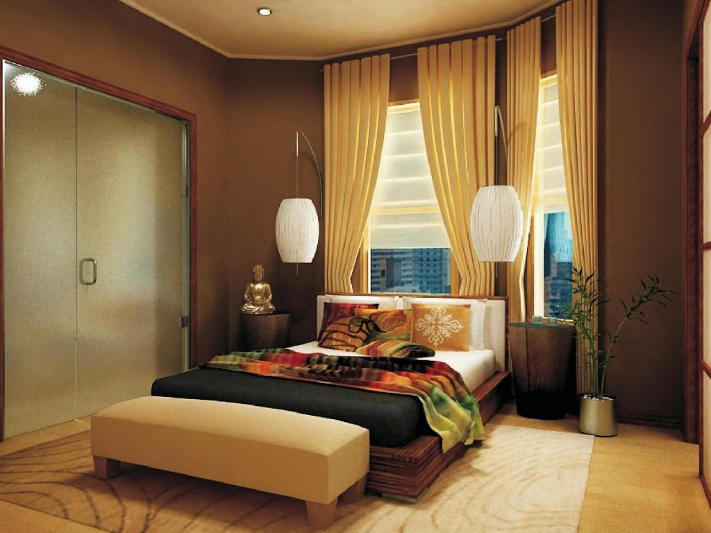 perdele crem pentru dormitor minimalist